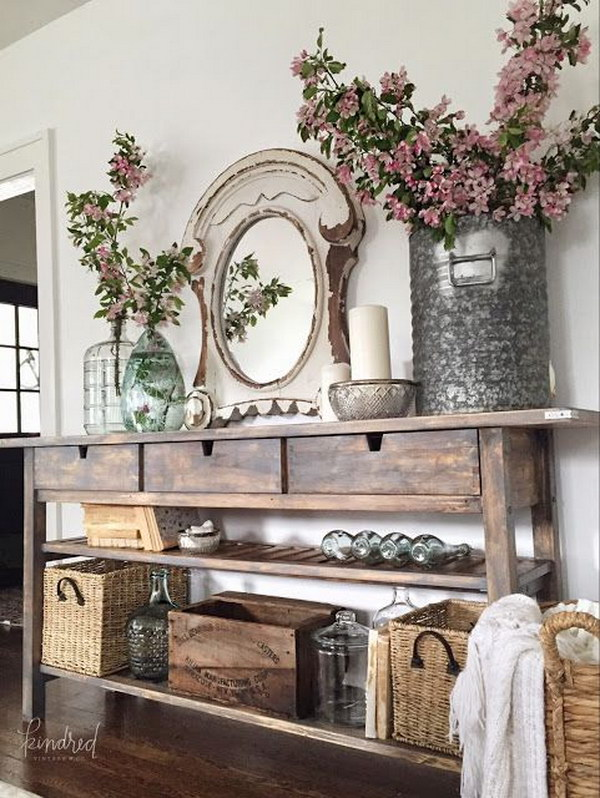 Sideboard Poco Enchanting Farmhouse Entryway Decorations For Your