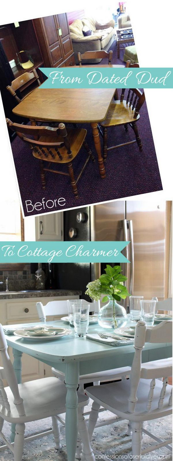 diy shabby chic furniture ideas tutorials painting kitchen table Shabby Chic Makeover How to Paint a Laminate Kitchen Table