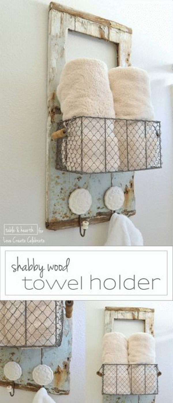 Fantistic Diy Shabby Chic Furniture Ideas Tutorials Hative - Badezimmer Accessoires Shabby Chic
