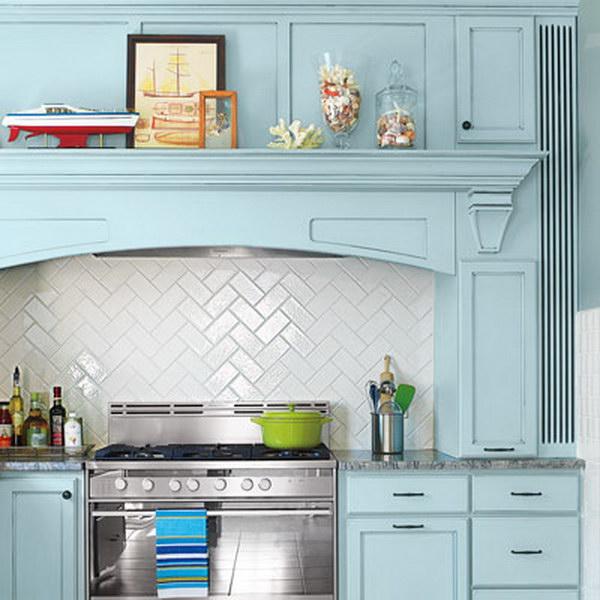 subway tiles backsplash herringbone pattern blue cabinets kitchens brick backsplash brick wallpaper kitchen kitchen ideas