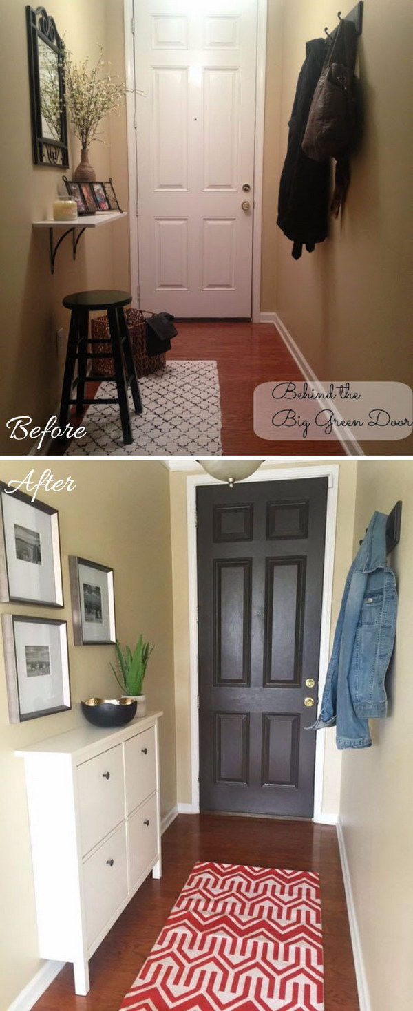 Shoe Shelf Ikea 30+ Amazing Entryway Makeover Ideas And Tutorials - Hative