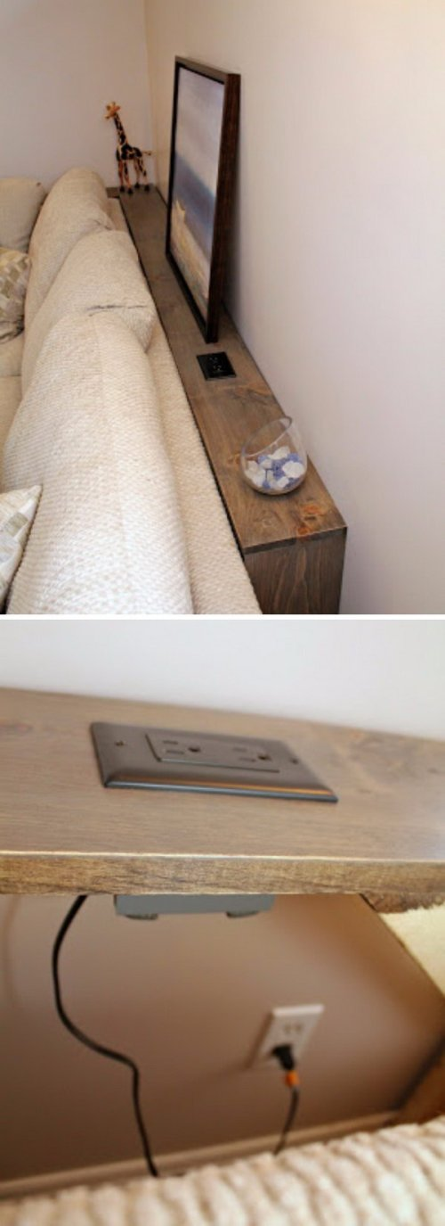 Medium Of Table Behind Couch