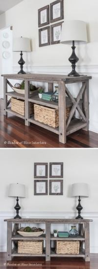 20+ Easy DIY Console Table and Sofa Table Ideas - Hative