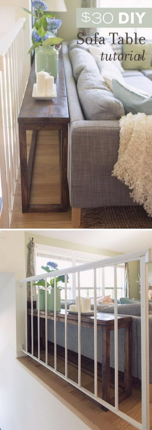 Medium Of Behind Couch Table
