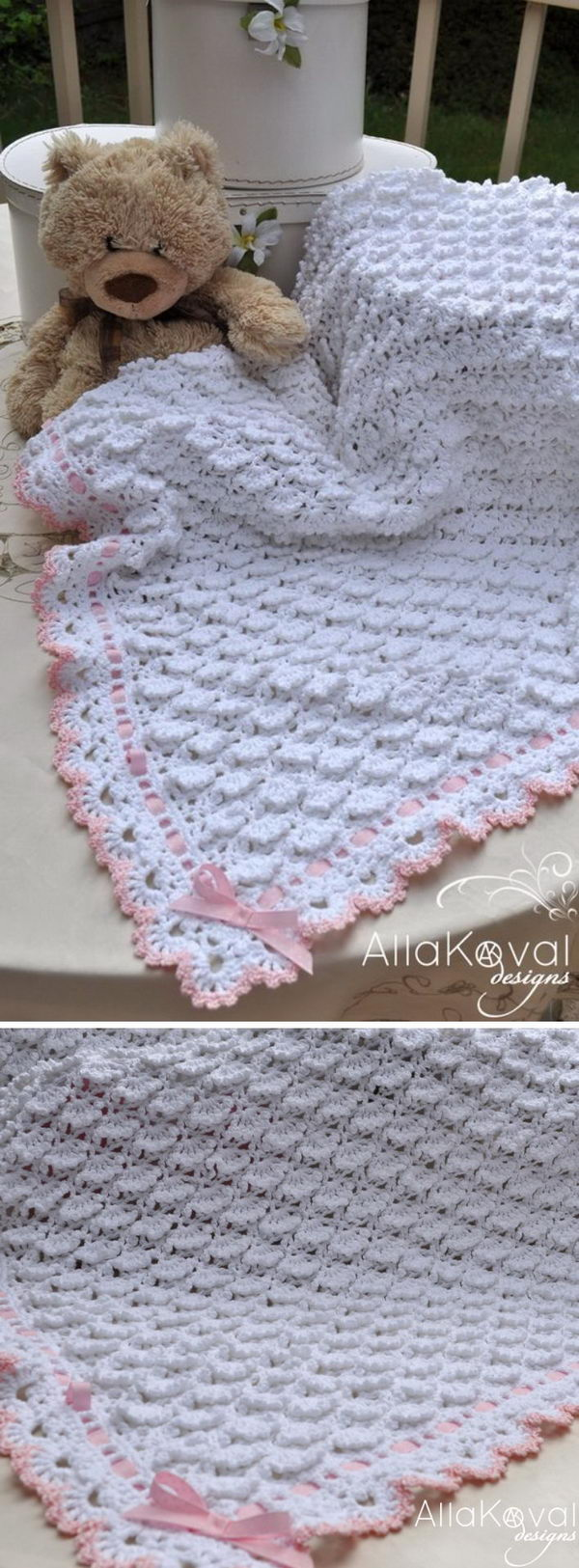 Crocheted Baby Blankets 30 Free Crochet Patterns For Blankets Hative