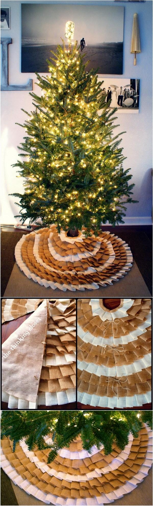 Enchanting Diy No Sew Ruffle Tree Diy Tree Skirt Ideas Hative Tree Skirt Quilt Kit Tree Skirt Crochet houzz-02 Christmas Tree Skirts