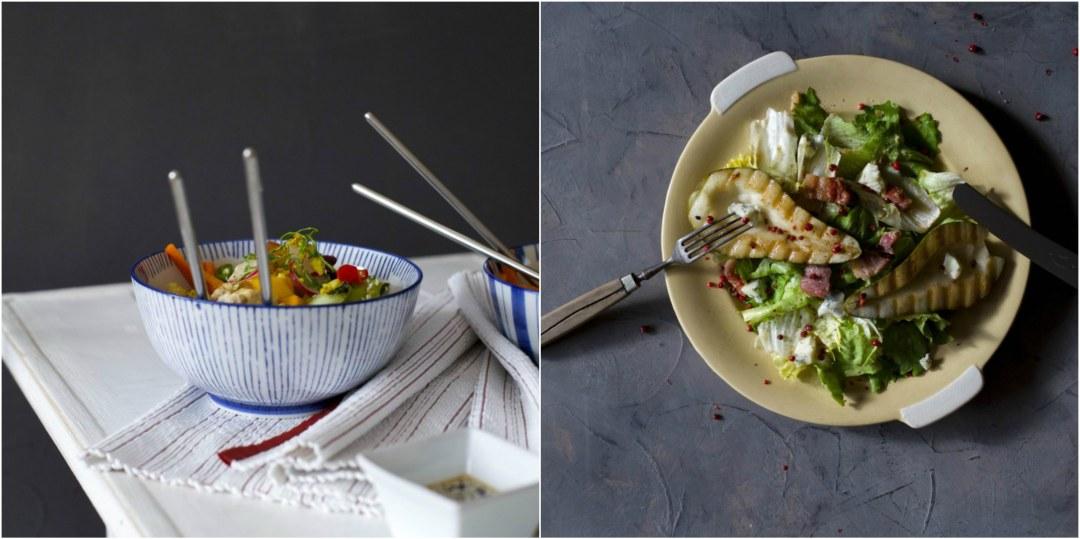 Green Curry und Endiviensalat mit Birne