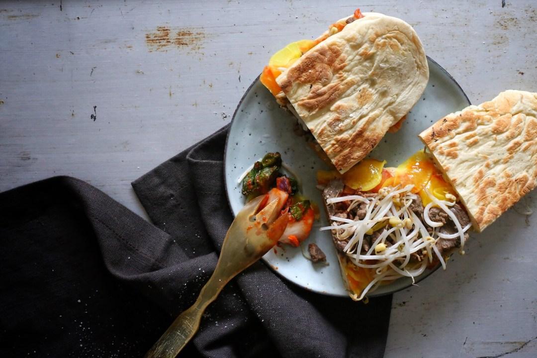 Bulgogi-Sandwich mit Kimchi