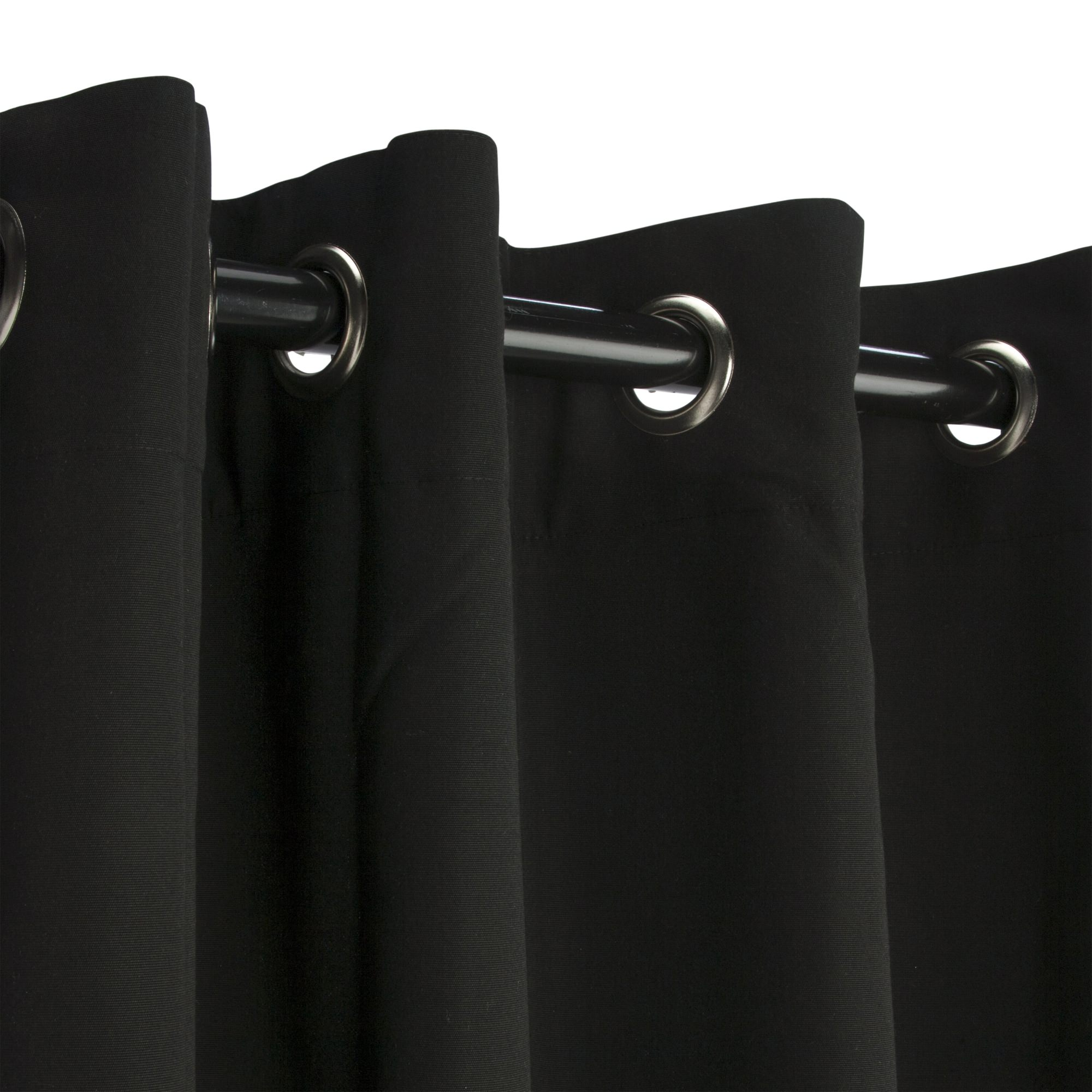 Schwarzer Vorhang Black Nickel Grommet Sunbrella Outdoor Curtains