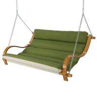 Spectrum Cilantro Deluxe Cushioned Double Porch Swing
