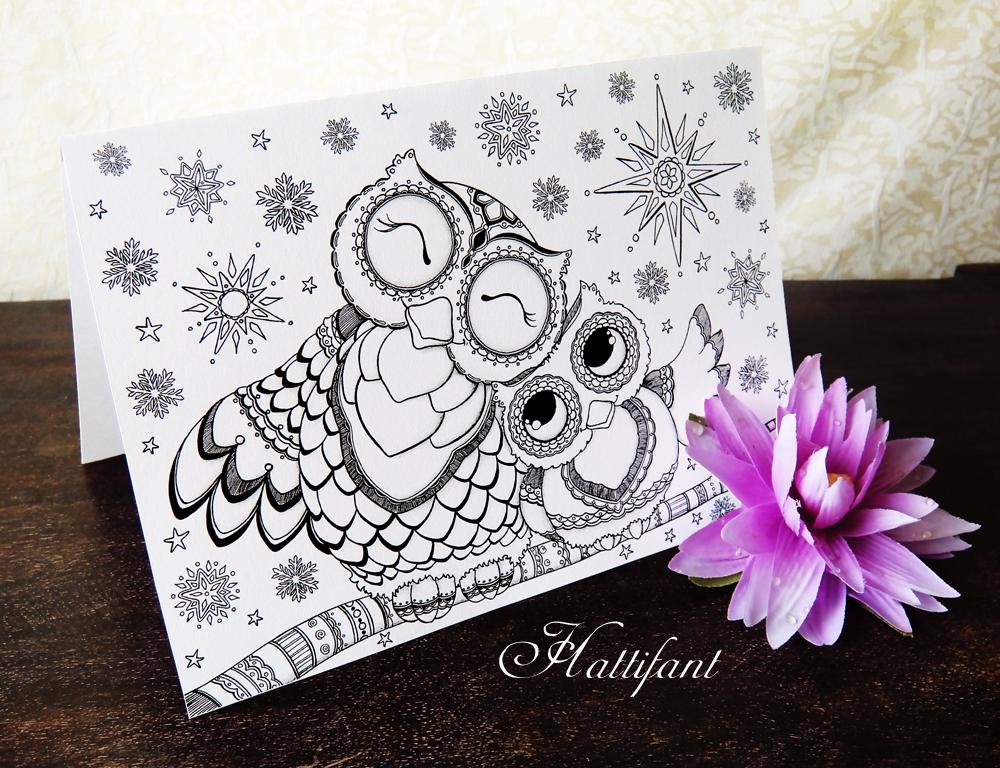 Hattifant\u0027s Owl Love Coloring Pages - Hattifant