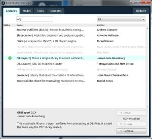 Processingにライブラリ管理が統合されたので、使うのがだいぶ楽になりました。