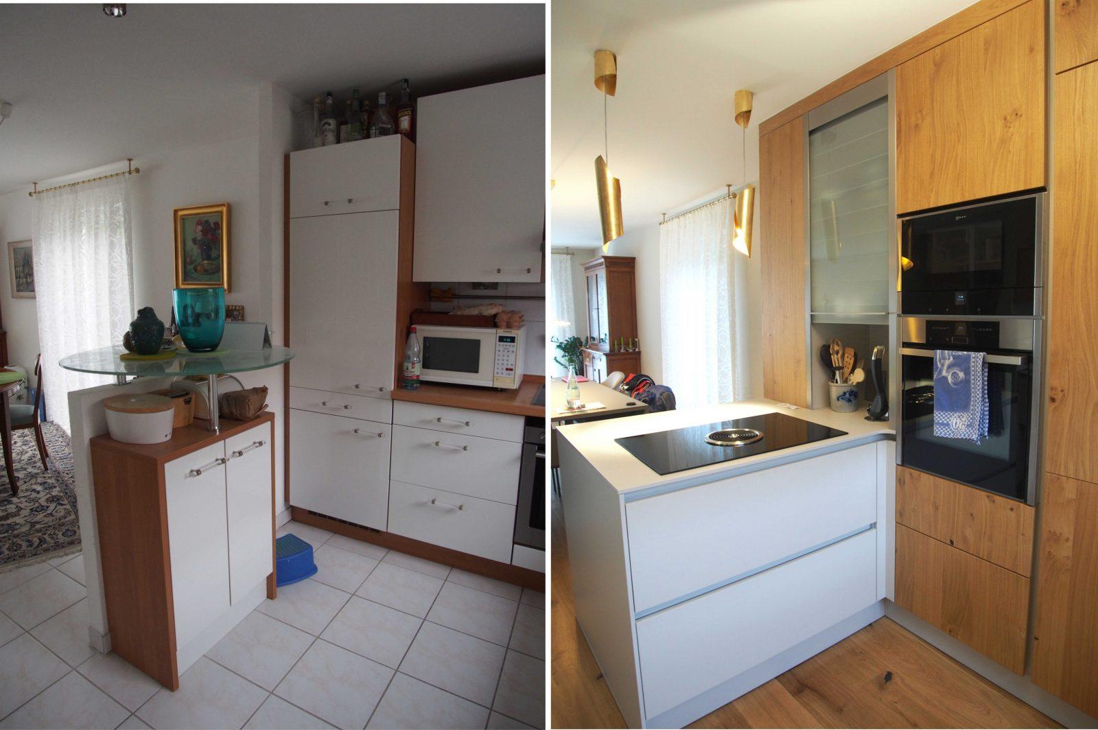 Alte Küchen Neu Gestalten | Alte Küche Aufpeppen Vorher Nachher Alte ...