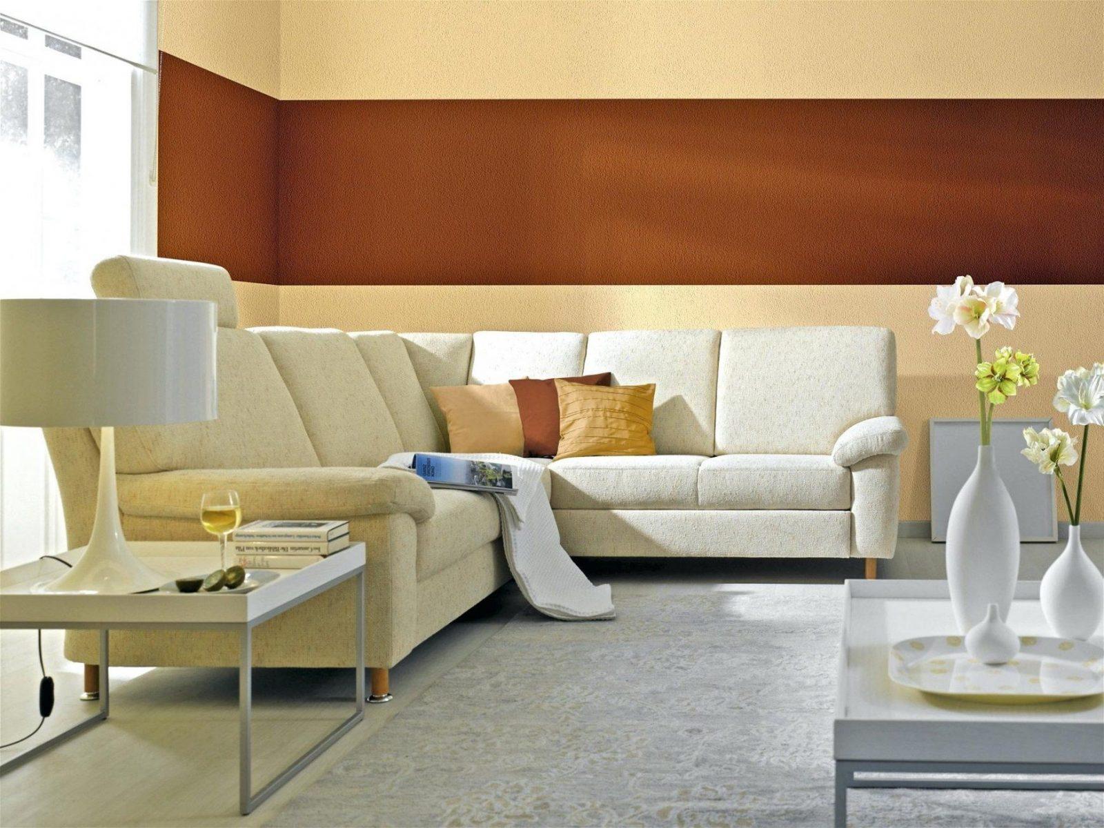 Wohnzimmer In Orange Braun Und Teakholz | Wohnzimmer Streichen ...