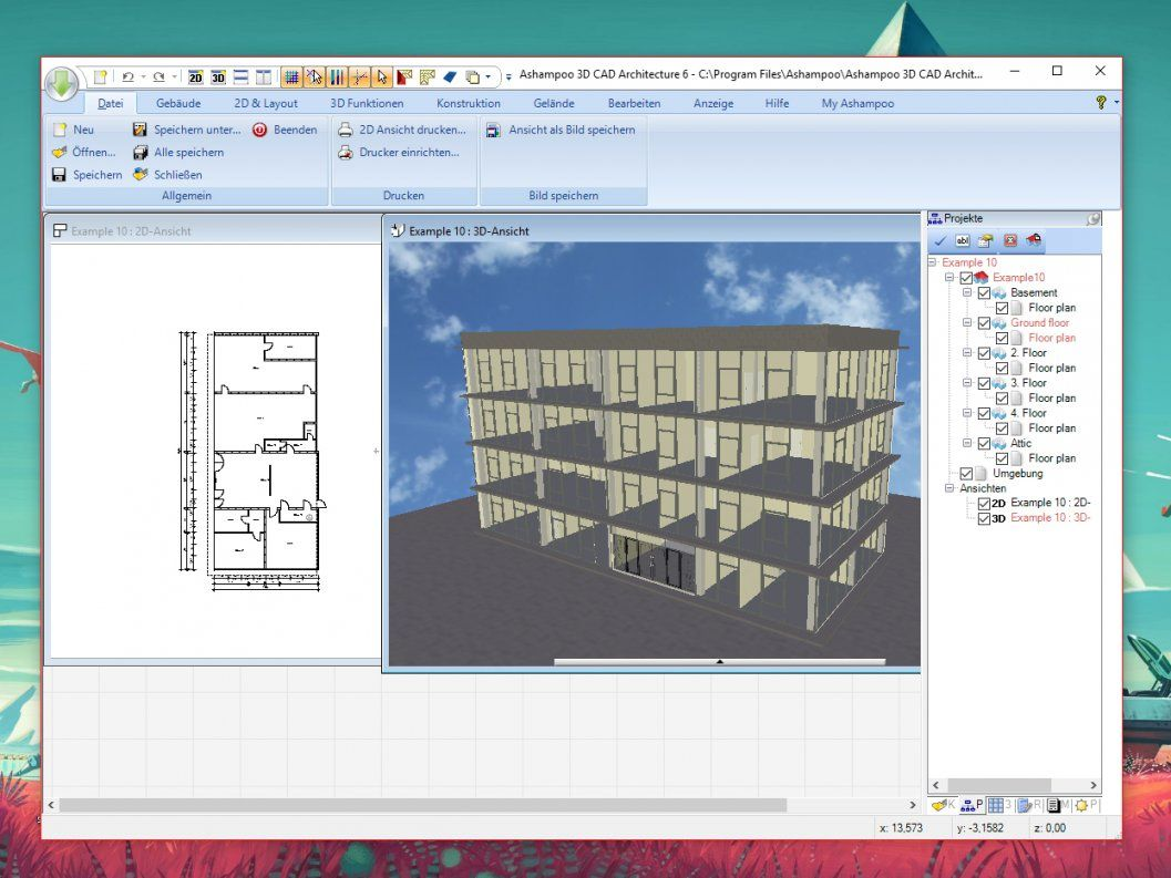 Kostenloses 3d Programm Ashampoo 3d Cad Architecture Download Chip Von Innenarchitektur