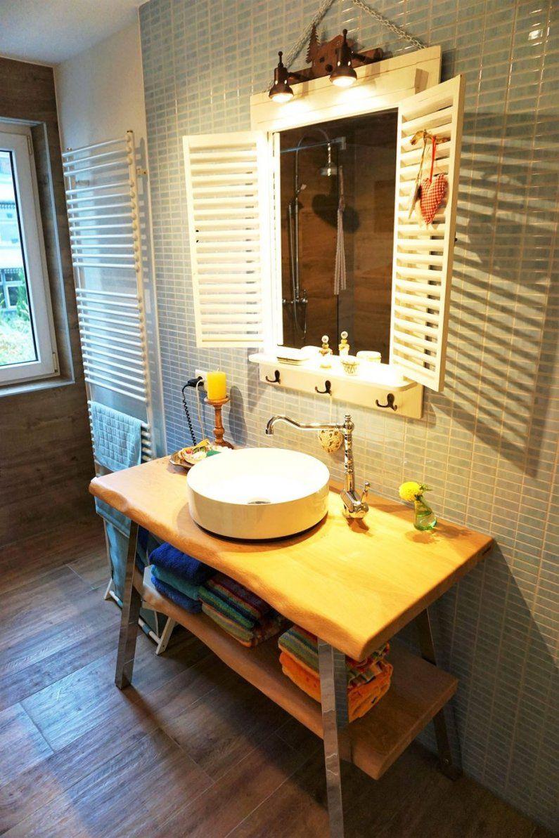 Badezimmer Rustikal Bilder | Bad Unterschrank Holz Einzigartig ...