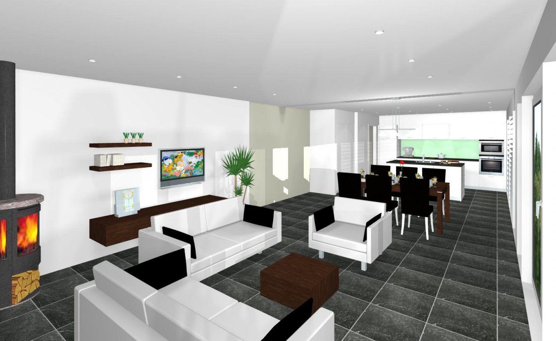 Wohnzimmer Und Esszimmer In Einem Raum Moderne Artwohnung