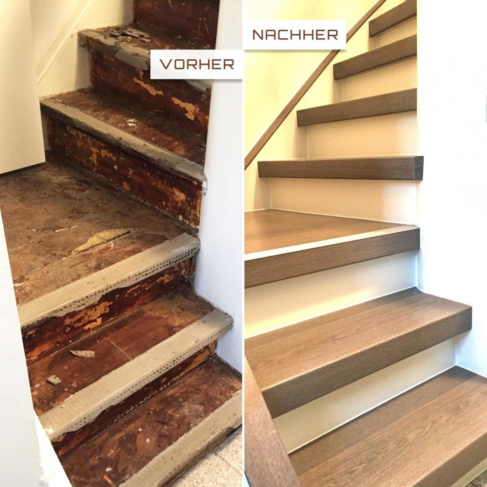 treppe innen renovieren   treppenrenovierung treppensanierung hübscher