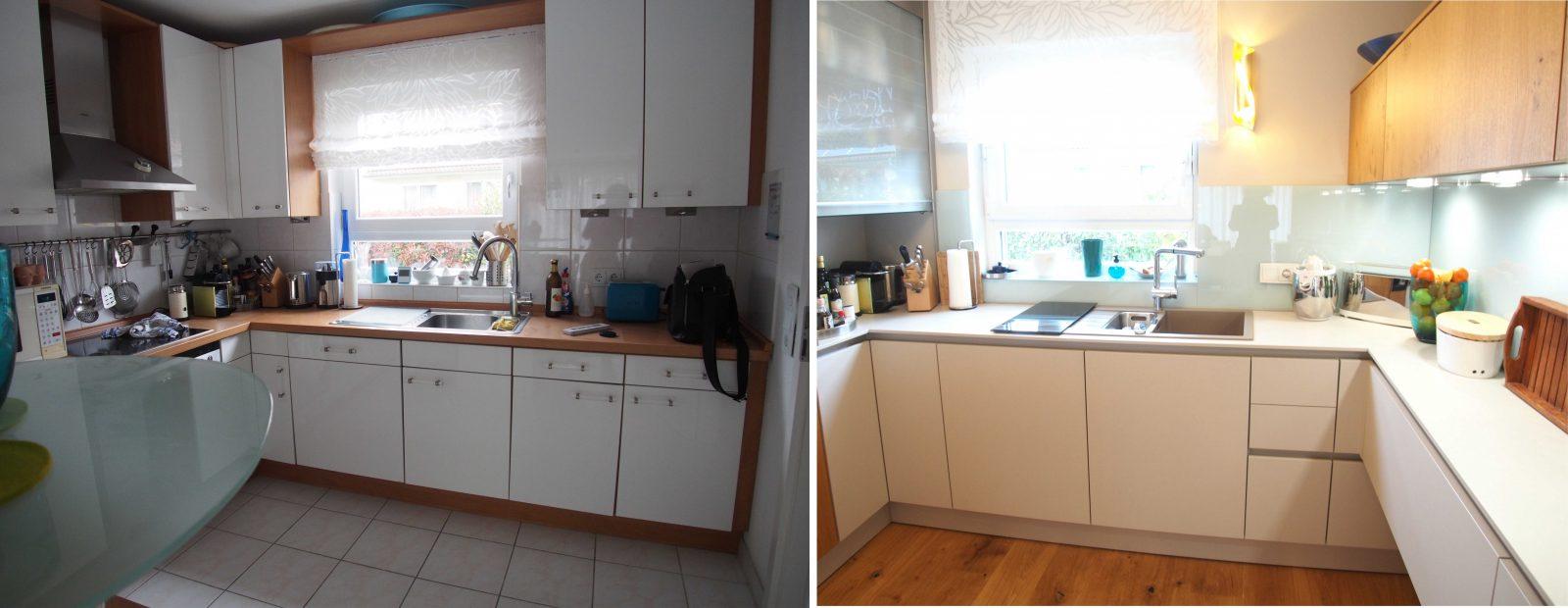 Küchen Fliesen Streichen   Küche Streichen Vorher Nachher ...