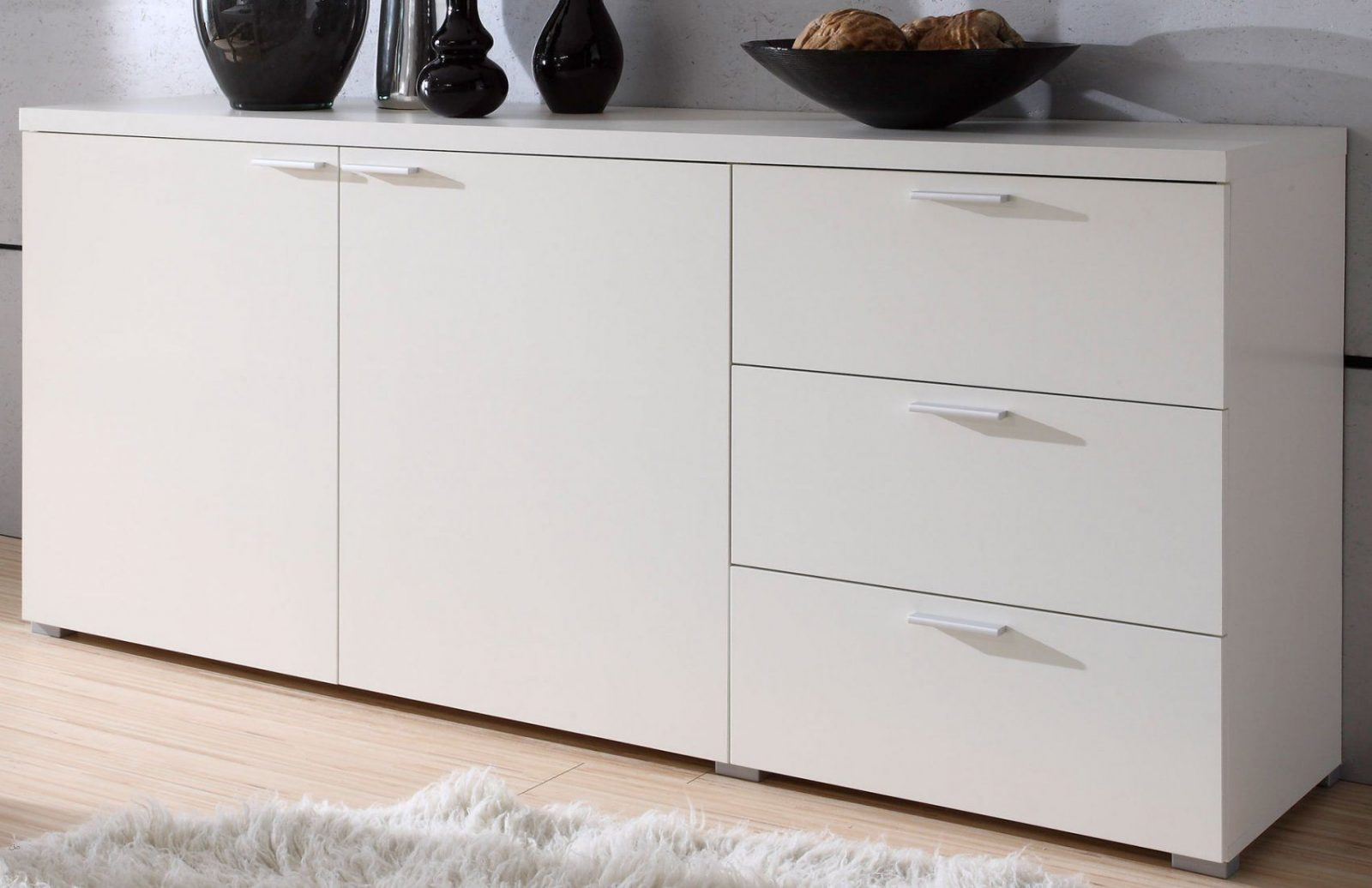 Schlafzimmer Kommode Weiß Grau | Garderoben Set Weiß Hochglanz ...