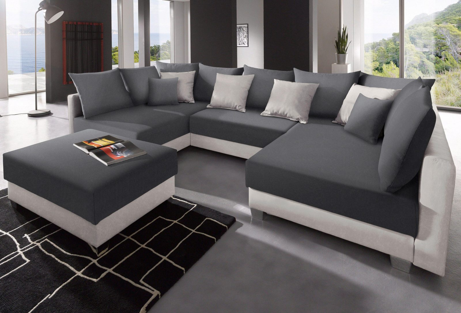 U Form Couch L Sofa Xxl 7 Wohnlandschaft Matera Xxl U Form Design Couch