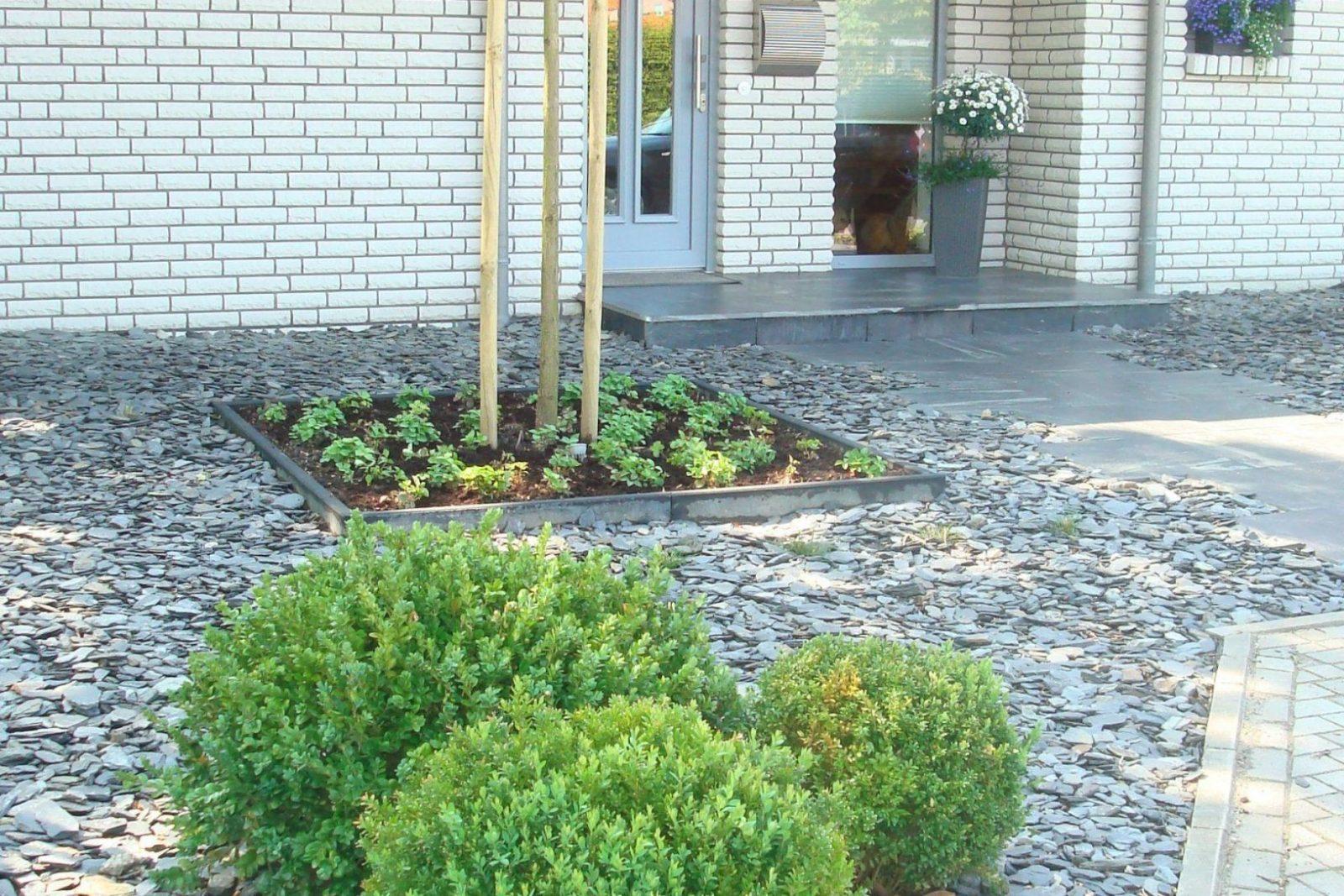 vorgarten gestalten mit kies und gräsern | vorgartengestaltung