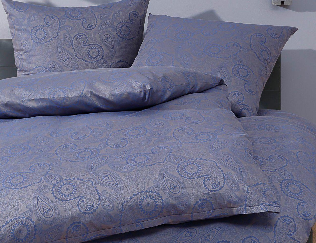 Bettwäsche 200x200 Blau Janine Chinchilla Edel Flanell Bettwäsche