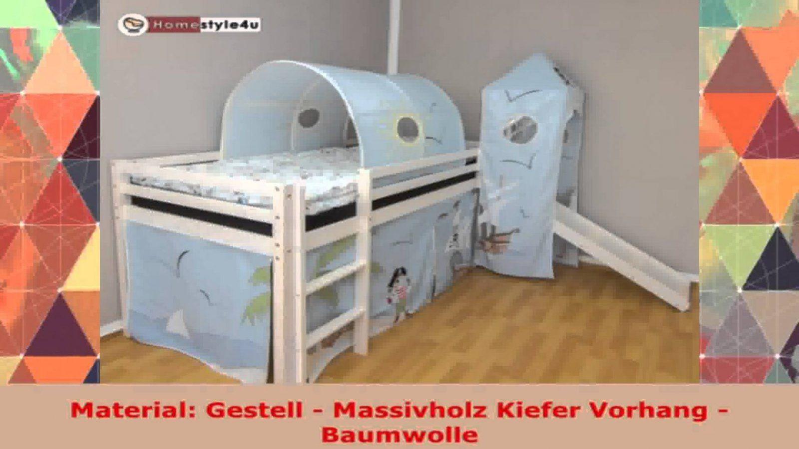 Etagenbett Hochbett Spielbett Kinderbett Jelle 90x200cm Vorhang : Vorhang für hochbett bett mit dreams home kinderbett