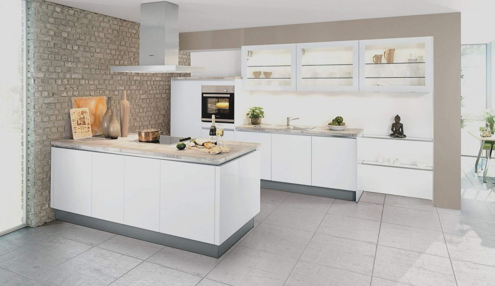 Ikea Küche Ohne Griffe   Weiße Küche Ohne Griffe