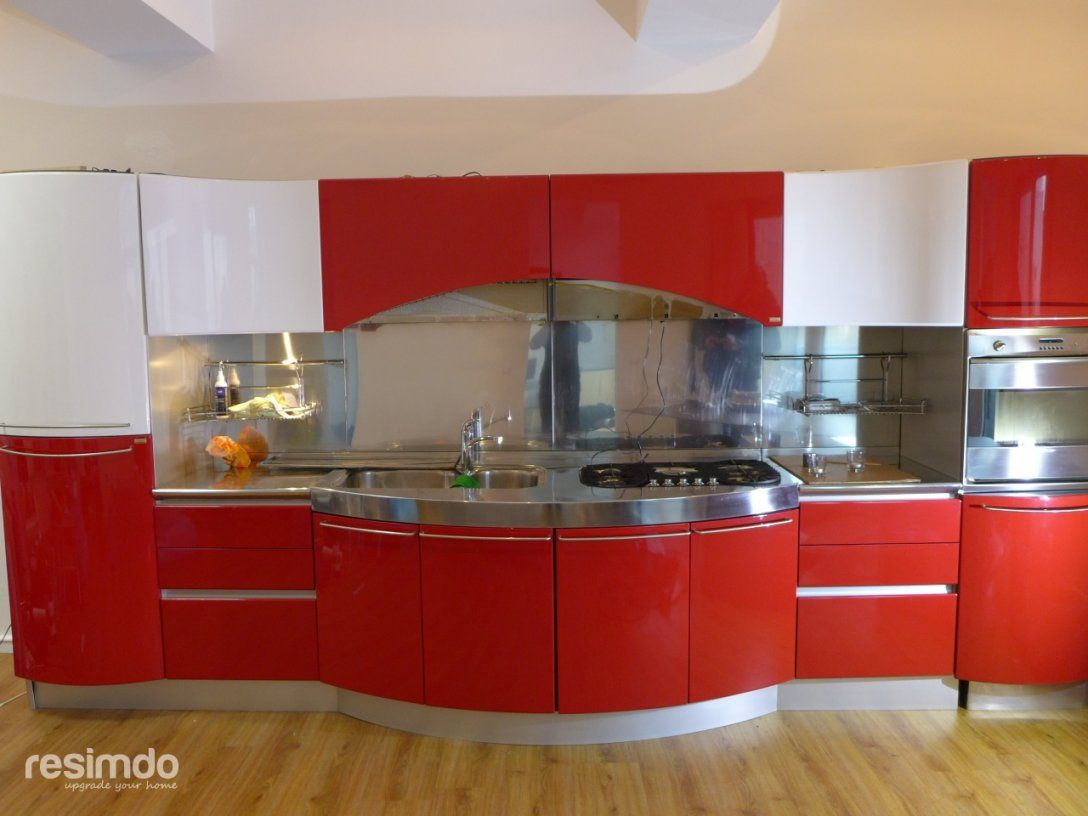 K che folieren resimdo k che folieren landhaus kuche for Klebefolie rot hochglanz