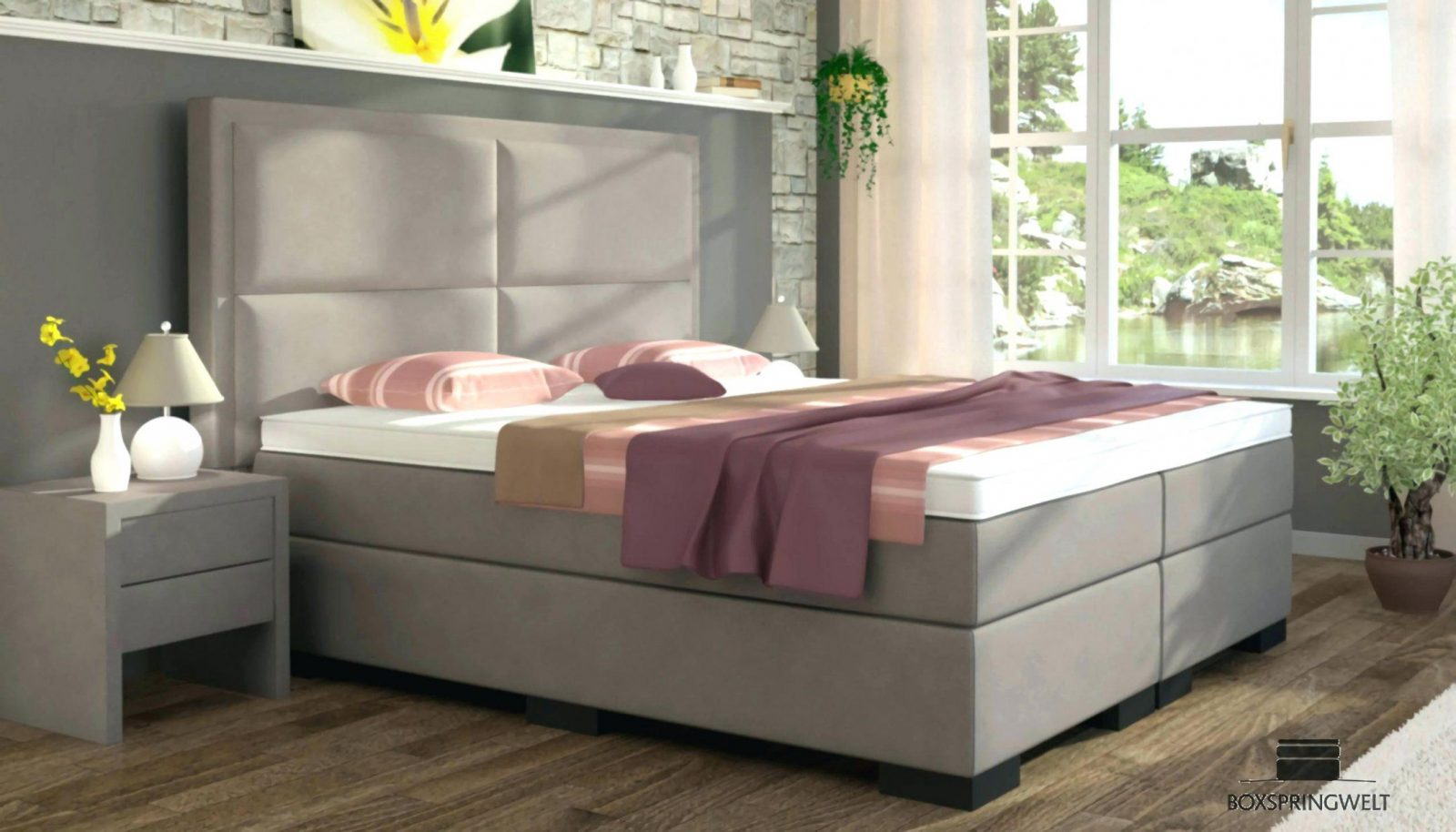 Boxspringbett 100x200 Mit Bettkasten Otto Boxspringbett 100x200 Mit 140 200 Joe Cm Stoff Ranch Graphite