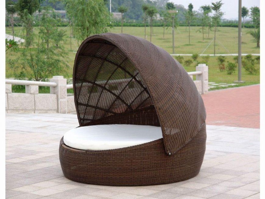 Round Wicker Porch Swing Bed Von Round Rattan Swing Bed Bild Haus Design Ideen - Outdoor Vorhänge Orange