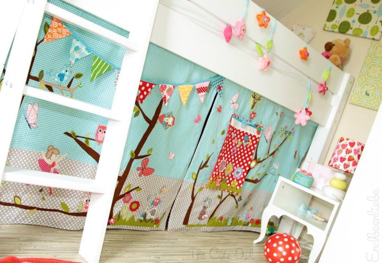 Vorhang Etagenbett Selber Nähen : Hochbett vorhänge selber nähen: warm und opulent vorhang