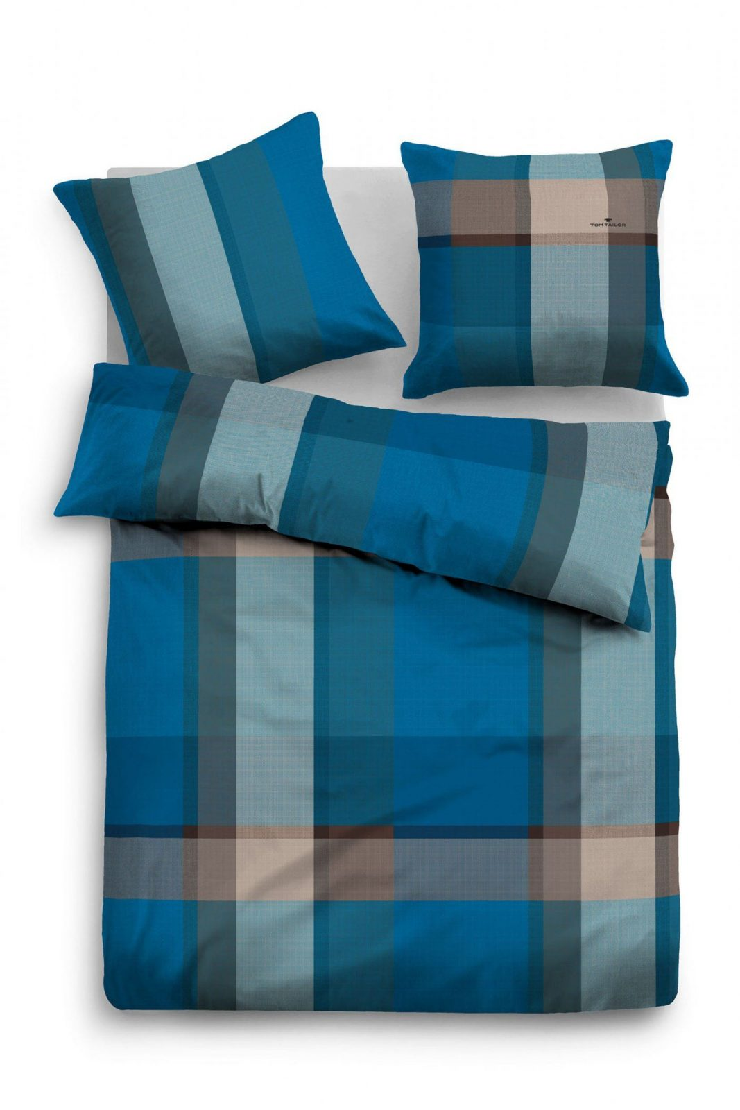 "Biber Bettwäsche Tom Tailor Tom Tailor Flanell Bettwäsche ""blue Plaid"" Blaugrau Beauty"