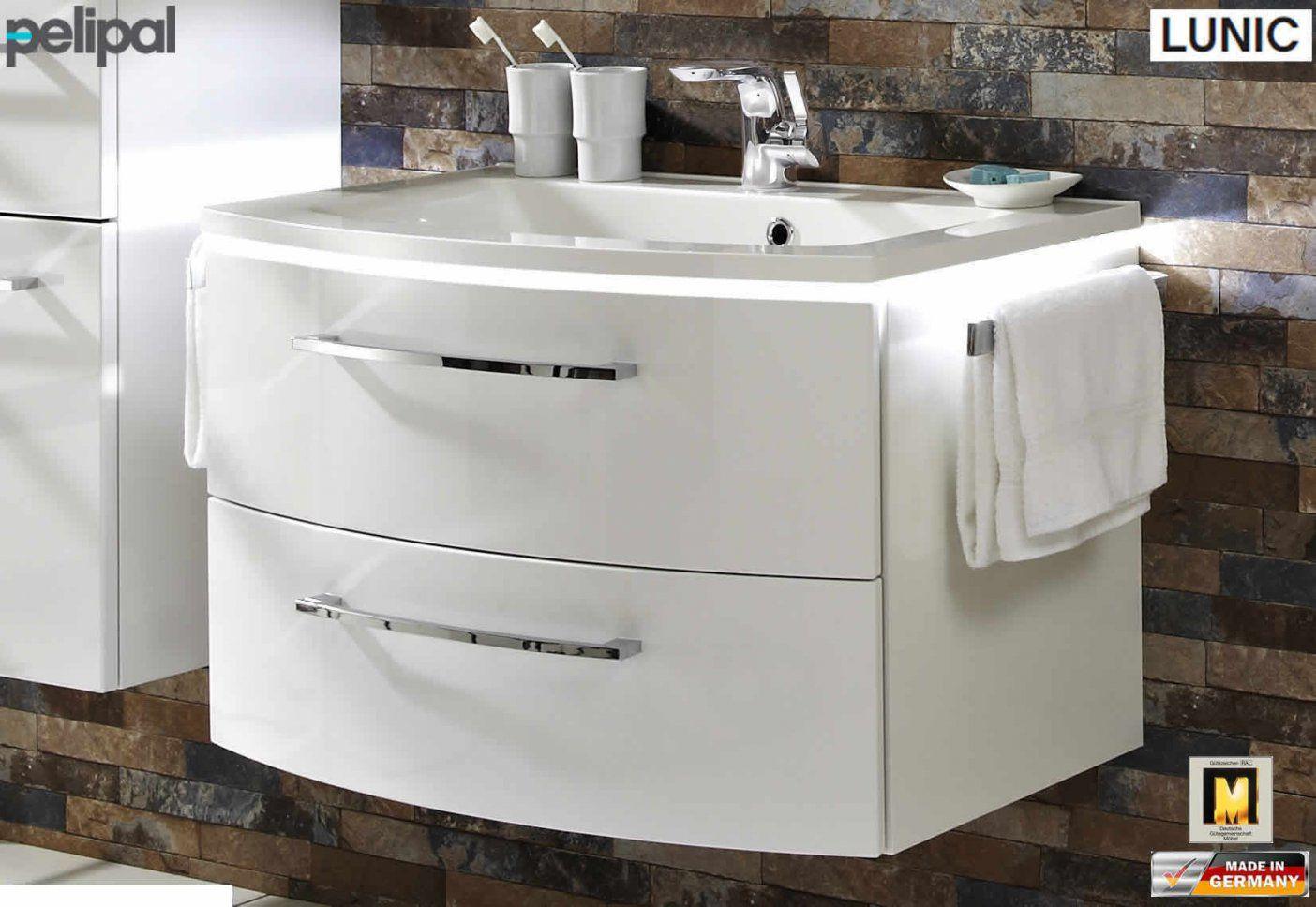 Waschbecken Mit Unterschrank Weiß 80 Cm Waschbecken Mit