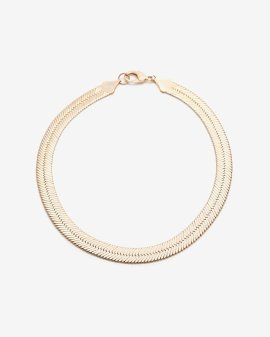 Fallon wide herringbone chain necklace