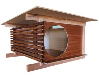 Modern Post and Beam Cat House From Davies Decor  hauspanther