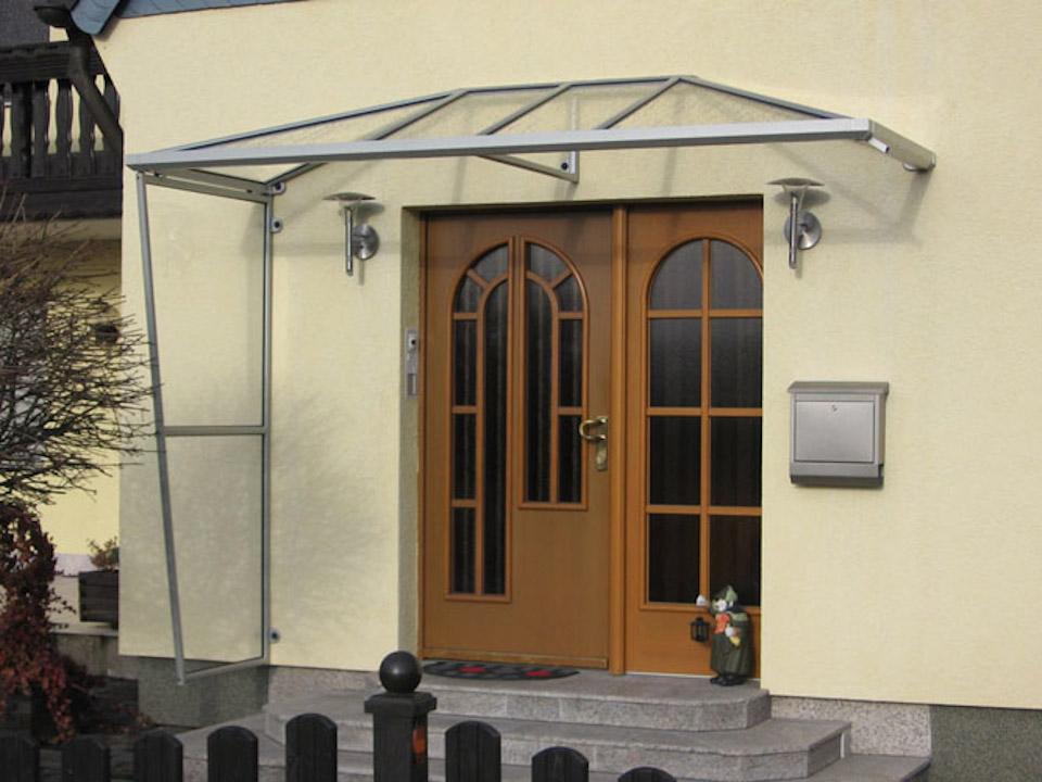 Windfang Hauseingang Aus Glas