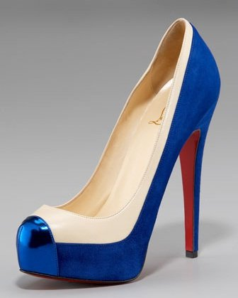 Christian Louboutin Mago Cap-Toe Two-Tone Pump