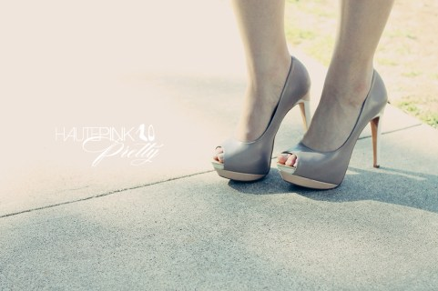 An Dyer wearing SoleSociety Tori Peeptoe Platform Shoes