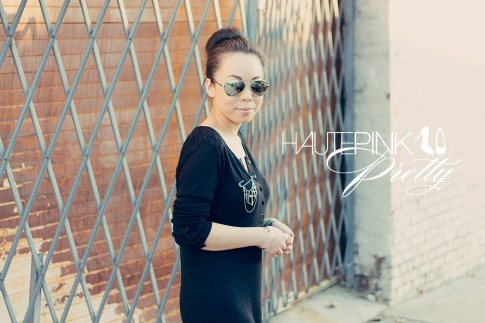 www.HautePinkPretty.com - An Dyer wearing LAMade Henley Tunic, Glint & Gleam Dangling Cross Pin - Antique Silver and Nailed It Bangle - Silver, Marc Jacobs Silver Latin Ring, Jeffrey Campbell Lita Spike in Black Leather, Swarovski Elements Wrap Bracelet, KW Rush Silver Mirrored Aviator Sunglasses