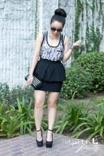 An-Dyer-wearing-Aqua-Tank-Honeydew-Bralette-Zara-Peplum-Skirt-Vigoss-Eyewear-Sunglasses-TopShop-Mesh-Collar-Necklace-Oasap-Studded-Clutch-Wild-Pair-Lola-Wedge-Glint-Gleam-Nailed-It-Bracelet-Swarovski-Bra