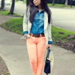 Sugarlips Apparel Jacket + Maya Brenner California Necklace + Neon YMI Jeans