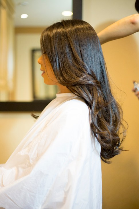 HautePinkPretty An Dyer visits Mika Fowler at Kim Vo Salon Montage Hotel Beverly Hills - Styling