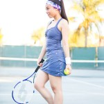Tennis Fitness Fashion: LIJA Compression Gathered Tank Top & Sprint Layered Skort + Ryka Intent XT Shoes
