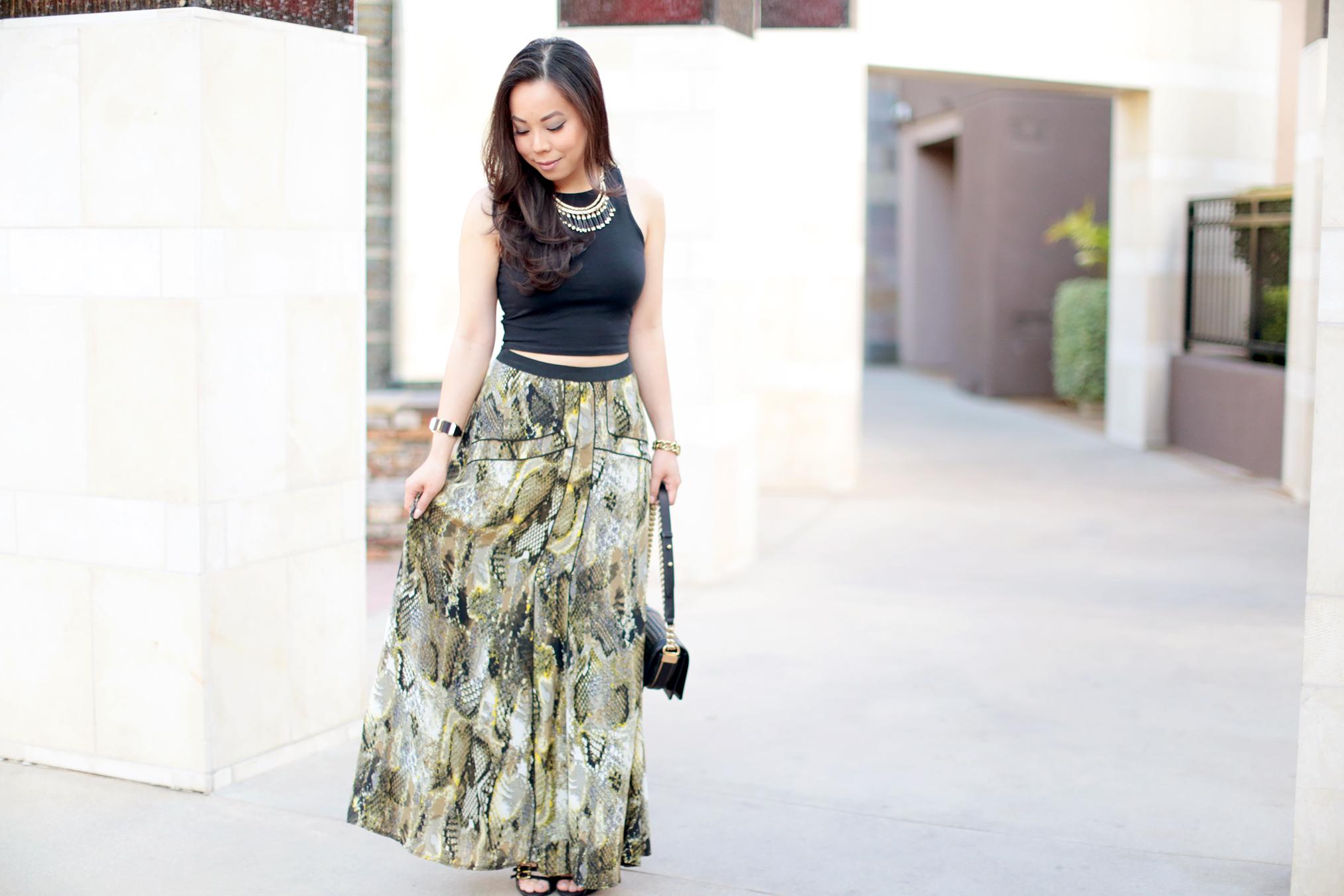 hautepinkpretty crop tops maxi skirts