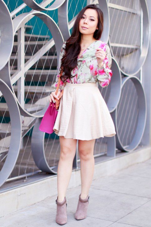 Wearing Hermes Herbag Rose Pink Outfit Style