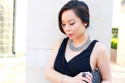 An Dyer wearing Juliet Co Necklace Bling Jewelry Clip on earrings and tennis bracelet