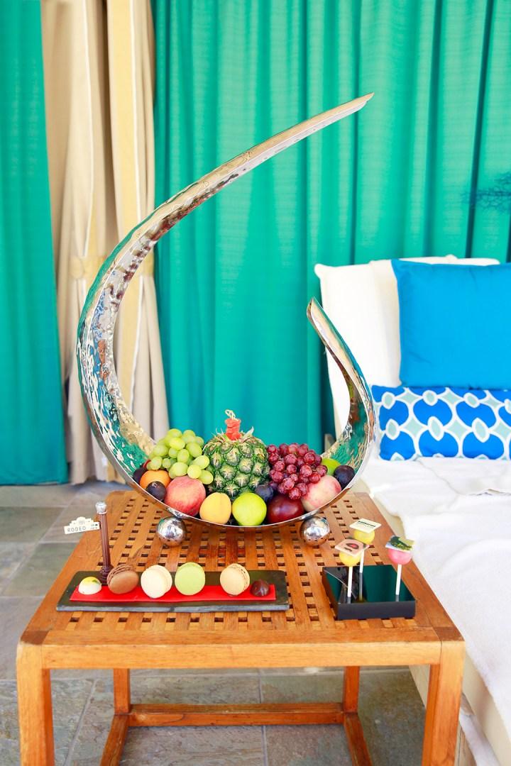 Beverly Wilshire Pool Cabana Fruit Tower