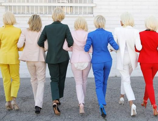 hillary-rainbow-halloween-pant-suits-behind